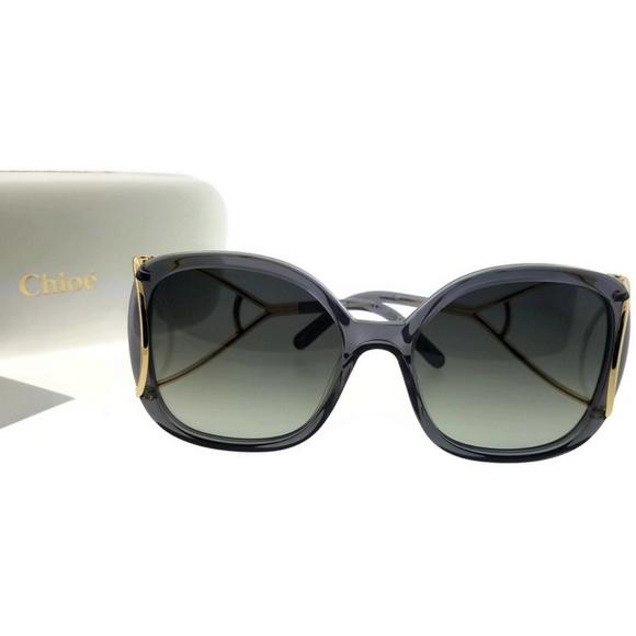 2250e5e799e9a1 CE702S-035-56 Square Women s Grey Frame Sunglasses. NWT. Chloe